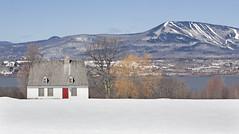 Snow in April (sarajdsign) Tags: winter snow canada ski landscape spring orleans quebec scenic april isle slopes