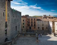 Cathedral steps and square, Girona (Sorin Popovich) Tags: sky cloud architecture outdoors spain cathedral catalonia girona catalunya christianity catholicism medievalarchitecture buildingexterior gironacathedral cathedralofsaintmaryofgirona
