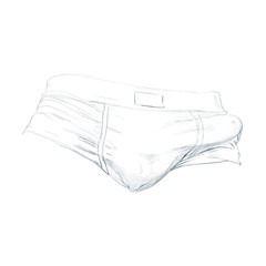 White (Nymphaeum) Tags: white illustration underwear bulge