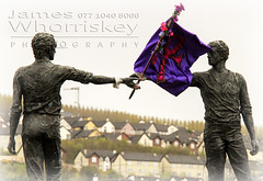Symbolic ! (James Whorriskey (Delbert Jackson)) Tags: uk bridge ireland colour art catchycolors print death photo hands photographer purple respect symbol mark flag picture statues prince photograph londonderry northernireland across derry ulster divide the foyle craigavon handsacrossthedivide impressionsexpressions aroundus jameswhorriskey delbertjackson jameswhoriskey jameswhorriskeyphotography