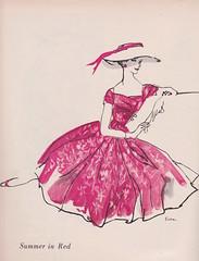 Mollie Parnis for Wamsutta 1956 (2) (moogirl2) Tags: retro vogue 50s 1956 vintageads vintagefashions wamsutta vintagevogue 50sfashions vintagefashionillustration mollieparnis