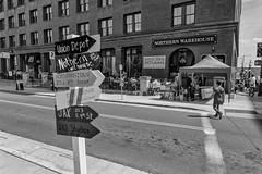 StPaulArtCrawl2016_46406-.jpg (Mully410 * Images) Tags: street blackandwhite signs monochrome stpaul sidewalk 2016 artcrawl niksilverefexpro