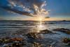 Sonnenuntergang mit Algen (__db_) Tags: ocean sunset sky cloud sun water wind himmel wolken filter hdri haida langzeitbelichtung laboe ndfilter graufilter reversegradnd reversegnd06 filterhalter