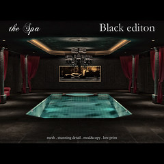 the Spa by Abiss - Black edition (Abiss Design ( Oggy Bonetto )) Tags: club dark private play mesh sl secondlife spa rp role abissdesign