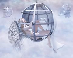 { Purgatory } (Trinetty Skytower) Tags: angel digital pose photography waiting avatar sl blueberry caged fantasy secondlife virtual ethereal heavenly prop epiphany purgatory astralia wasabipills atelierpepe