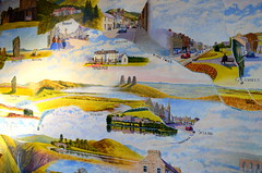 Mural at Chain Bridge Honey Farm (Tony Worrall Foto) Tags: county uk bridge england art wall landscape mural stream tour open arty place farm painted country north visit location chain northumberland honey area colourful northern update northeast attraction locations berwickupontweed chainbridgehoneyfarm welovethenorth