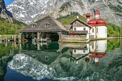 Bavarian Idyll (Achim Thomae) Tags: landscape deutschland berchtesgaden landschaft frhling 2016 stbartholom berchtesgadenerland nationalparkberchtesgaden thomae achimthomae