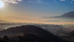 Fumo e nebbia (DarioMarulli) Tags: panorama nikon italia cielo nebbia collina abruzzo laquila fumo allaperto d3200 spaziaperti nikonclubit
