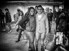 Pantless Sunday 17. (rockerlan) Tags: life new york nyc people urban subway square photography photo downtown pants manhattan no union sunday perspectives olympus pantless em5