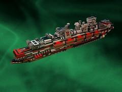 ZORG Cruiser - ''Kilmister'' Class (Crimso Giger) Tags: ship lego spaceship battleship cruiser starship moc vaisseau zorg spacecruiser vaisseauspatial croiseur microspacetopia zorgempire dedicatedtolemmy