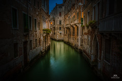 Early morning at canal in Venice, Italy