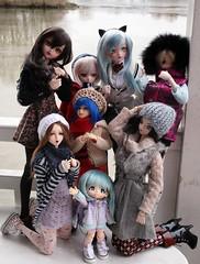 Friends Vacation (shorleckin) Tags: doll haruka bully extrieur madoka sayuri unoa kikipop dollfiedream kirie sqlab ddh07 angelphilia ddh09