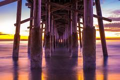 Barnacle Daze (Wedger132) Tags: ocean longexposure sunset nature colors weather clouds outdoors pier nikon newportbeach d750