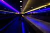 ** (donvucl) Tags: blue blur colour london heathrowairport movingwalkway semiabstract donvucl fujix100s