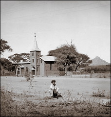 Catholic Church in Omaruru (ookami_dou) Tags: africa church vintage stereoview namibia npg herero omaruru