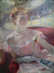 Cassatt, Woman with a Pearl Necklace in a Loge, 1879