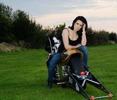 Holly W_7022 (Fast an' Bulbous) Tags: santa woman hot sexy girl bike race speed drag golden pod nikon power boots gimp fast babe chick strip hour motorcycle biker suzuki brunette d7100