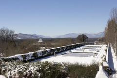 Biltmore Estate snow January 2016 (jackie.moonlight) Tags: house mountain snow garden frozen nc pond italian estate asheville january 24 biltmore wnc 2016