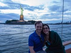 NYC skyline from a boat (aleksandr.kalininskiy) Tags: newyorkcity ny newyork water skyline boat us unitedstates olympus statueofliberty 124028 epl6