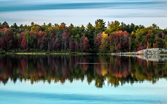 Harlow Lake (The Charliecam) Tags: autumn sunset lake fishing fallcolors michiganfavorites harlow marquette 24105l canon6d michigansupperpeninsula