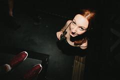 Lara (.Till) Tags: feet girl club work dark drink flash nightclub stereo sneaker brunette bielefeld