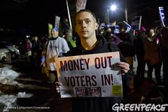 Money Out Of Politics (Greenpeace USA 2015) Tags: usa democracy durham newhampshire vote republican democrat keepitintheground