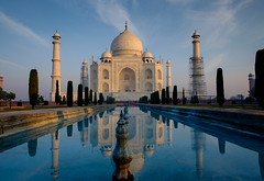 Taj Mahal Dawn Reflections