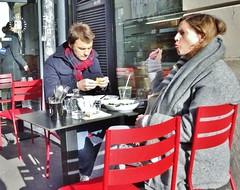 2016-02-07  Paris - FAB - French American Bakery - 48 Rue du Faubourg Saint-Denis (P.K. - Paris) Tags: street people paris café french terrace candid terrasse february février 2016