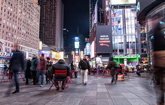 The Times Square (azahar photography) Tags: city nyc travel light people holiday ny walking neon sitting nypd busy timessquare sightseing