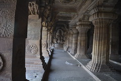 Colonnade in Badami Cave Complex (Shyam Vallabh) Tags: architecture columns caves badami