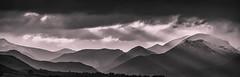 Troutbeck Mono (jasonhudson2) Tags: mountains monochrome landscape outdoors fujifilm sunrays xt1