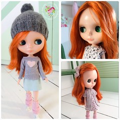 My first Blythe Doll - Penny 💕 with some of her new outfits ❤️ ( it's a V-Smash and I love her)