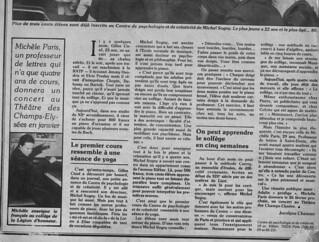 MICHEL SOGNY PRESSE VSD  6 JUIN 1979