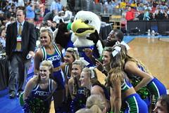 FLORIDA GULF COAST CHEERLEADERS (SneakinDeacon) Tags: basketball acc cheerleaders florida mascot tournament ncaa eagles unc tarheels gulfcoast marchmadness atlanticsun
