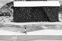 Marseille - Petit Bonhomme (Ynosang / Synopsis) Tags: street people urban bw monochrome mono blackwhite marseille sony nb skatepark alpha a7 135mm urbain massilia hexanon friche synopsis belledemai ynosang