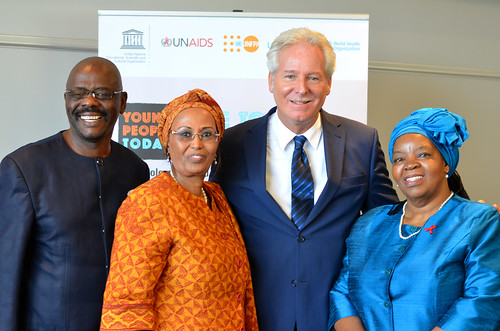 Dr. Vitalis Goodwell Chipfakacha, Dr. Asha Mohamud, Prof Hubert Gijzen and Prof Sheila Tlou