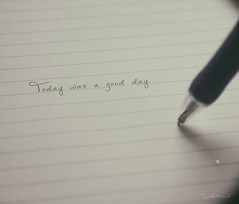 Today was a good day.. (Stella_Kar) Tags: pen paper line optimism goodday positivity pieceofpaper