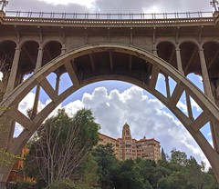 #vistadelarroyohotel in #pasadena #california as seen through the #coloradostreetbridge spanning the #arroyoseco #spanishcolonialrevival also known as #pasadenassuicidebridge and believed to be #haunted #lovinghistory #architecture March 08, 2016 at 11:09 (karolalmeda) Tags: california architecture known march haunted be through pasadena seen 08 arroyoseco believed 2016 spanning coloradostreetbridge vistadelarroyohotel spanishcolonialrevival 1109pm instagram ifttt pasadenassuicidebridge lovinghistory