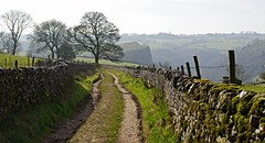Let's walk........ (Blue sky and countryside.) Tags: park england sunshine walking spring exercise pentax district peak national valley cave drystonewall rambling manifold thors