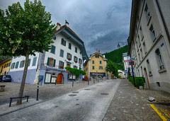 Welcome to Old Town Montreux, Switzerland (` Toshio ') Tags: road street house architecture clouds switzerland europe theater european suisse swiss welcome bienvenue oldtown montreux toshio xe2 fujixe2