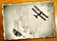 Tail Chase (nedjetwave) Tags: vintage flying kent nikon dogfight biplane hernebay focker airdisplay hss triplane nikkor80200f28 d300s slidersunday amyjohnsonmemorialairshow