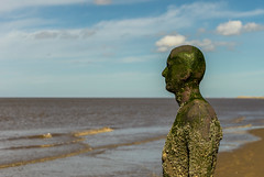 Look Out (Andrew Gibson.) Tags: sea sky men beach water statue liverpool coast sand waves alone tide statues castiron crosby antonygormley sefton anotherplace crosbybeach siranthonygormley sonya7ii