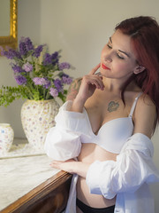 Amanda Witchcraft (elparison) Tags: window pretty breast tits bra lingerie downblouse eortic