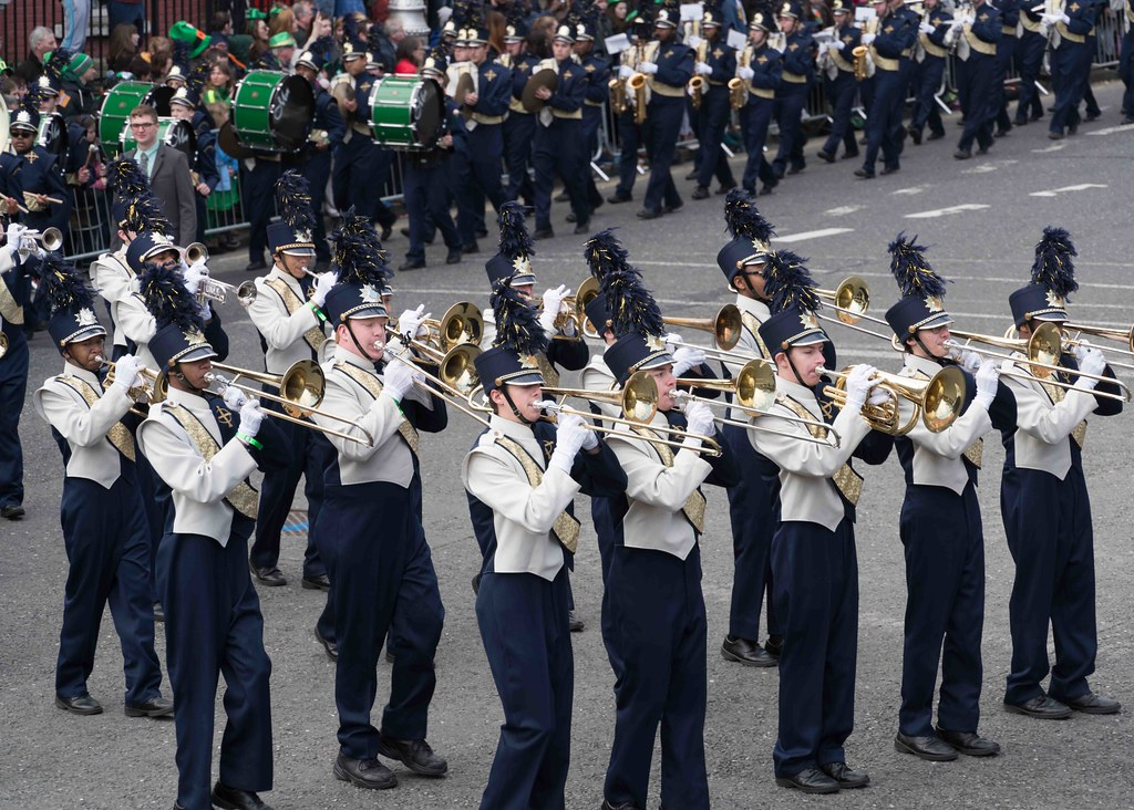 Cathedral High School 'Pride of the Irish' Marching Band [St. Patrick's Day Parade 2016]-112652