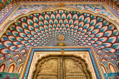Doors of Perception. (Prabhu B Doss) Tags: door city india art wall painting colorful palace psychedelic jaipur palaces rajasthan citypalace doorsofperception travelphotography incredibleindia nikond80 prabhubdoss
