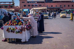 setting up the stall in the morning - Djemaa el Fna Marrakech (tattie62) Tags: travel people tourism places morocco marrakech djemaaelfna