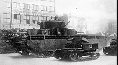 Tankette T-27 and T-35.