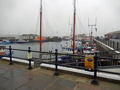 Kirkwall Harbour (Dunnock_D) Tags: uk sea sky cloud mist misty fog boats grey scotland pier boat orkney cloudy unitedkingdom harbour foggy kirkwall kirkwallbay