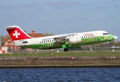 Swiss                                   Avro RJ85                                      HB-IYS (Flame1958) Tags: swiss londoncityairport londoncity avro britishaerospace 2016 0416 rj85 lcy avrorj85 hbiys 200416 swissrj85 bae85