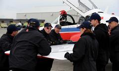 'Snowbirds' (aeroman3) Tags: people canada flying bc aircraft formation technician airforce snowbirds aerials comox tutor comoxvalley ct114 technicien airdemonstration airtech robertbottrill
